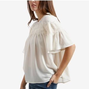 Lucky Brand Lace Peasant Top NWT!